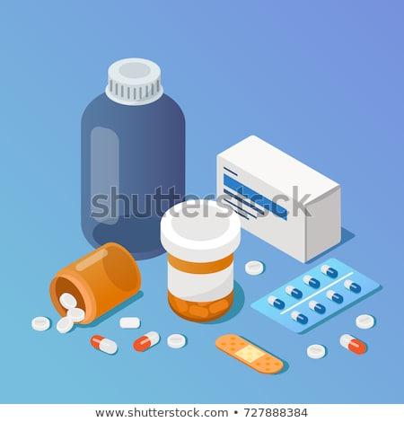 Farmácia conjunto pílulas bolha plástico Foto stock © robuart