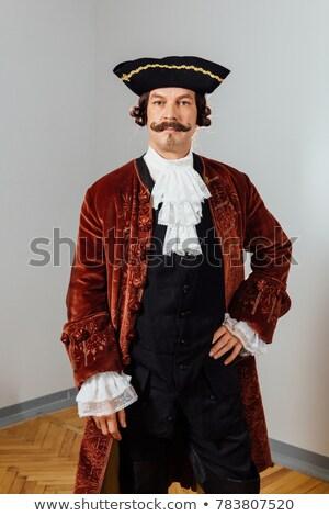 Handsome aiming pirate Stock photo © acidgrey