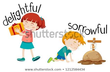 Tegenover woord achtergrond onderwijs foto tak Stockfoto © bluering