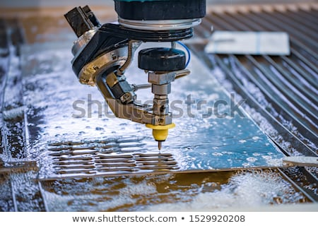 CNC water jet cutting machine Stock photo © cookelma