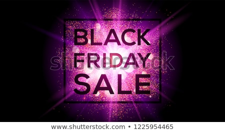 abstract black friday sale banner in explosion style Stock photo © SArts