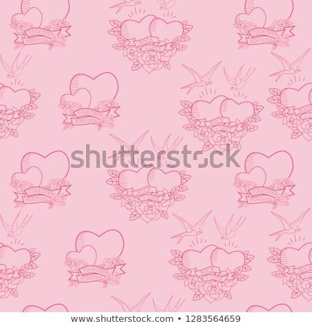 Kő zsemle Valentin nap grunge valentin nap copy space Stock fotó © swatchandsoda