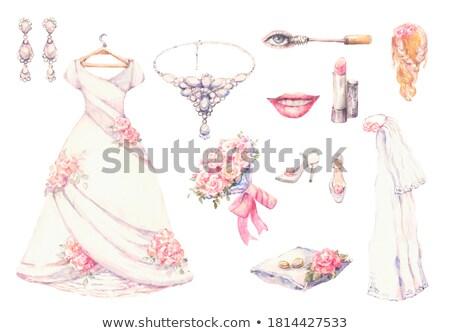 Alliances décoratif oreiller amour heureux Photo stock © ruslanshramko