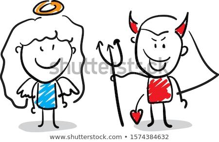 Cartoon дьявол Идея иллюстрация мужчин графических Сток-фото © cthoman