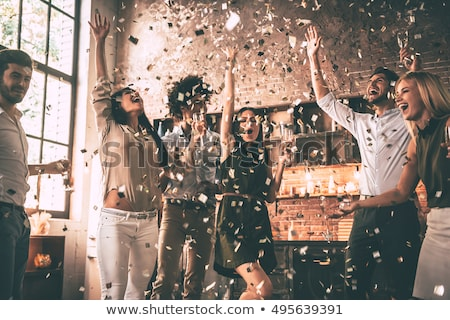 party people celebrating with champagne stock photo © kzenon