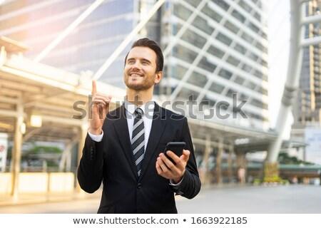 Zakenman idee hand man uitvoerende manager Stockfoto © Minervastock