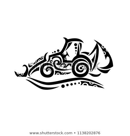 Plemiennych tatuaż stylu ilustracja aktor Zdjęcia stock © patrimonio