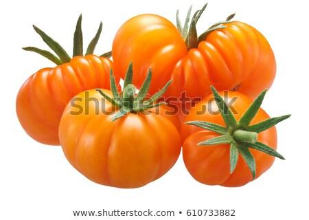 Yellow ribbed tomatoes, paths Stock photo © maxsol7