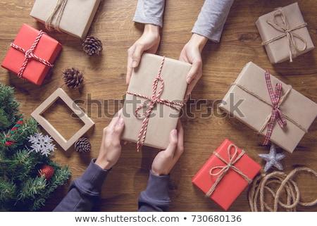 два · подарки · веселый · Рождества · с · Новым · годом - Сток-фото © neirfy