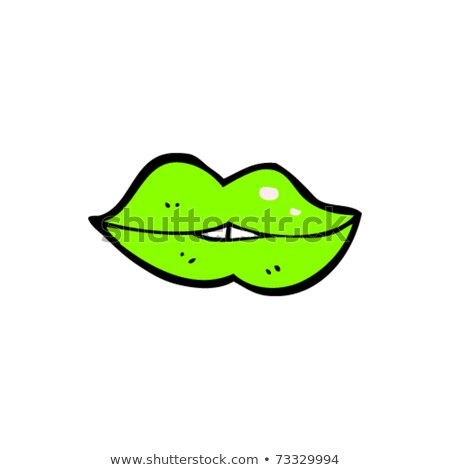 Zdjęcia stock: Female Lip Pouting Lips Smiling Cartoon Cute Mouth