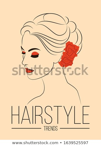 Mujer hermosa bollo peinado belleza boda salón Foto stock © MarySan