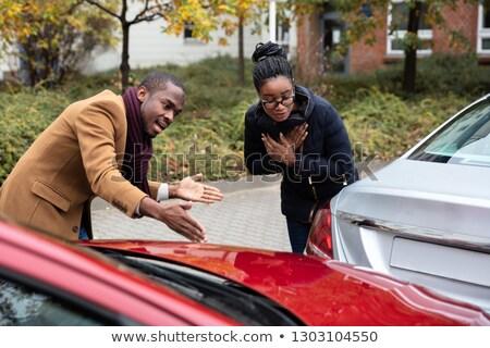 Man vrouw ruzie ander auto ongeval Stockfoto © AndreyPopov