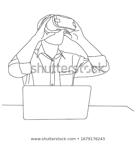interactive reality laptops vector illustration stock photo © robuart