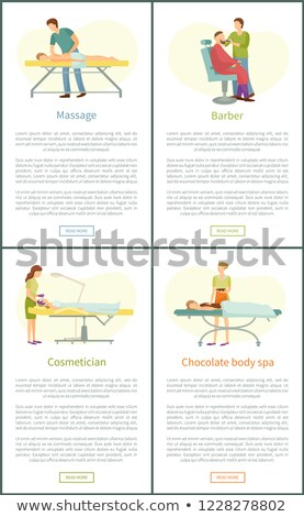Chocolate Spa and Cosmetician Posters Set Vector Stock photo © robuart