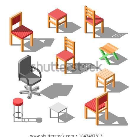 Foto stock: Conjunto · 3D · escritório · papel · isolado