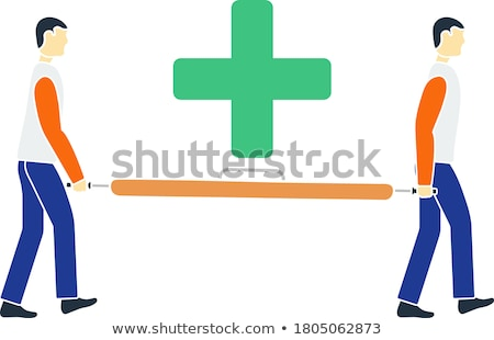 icon of football medical staff carrying stretcher stock photo © angelp