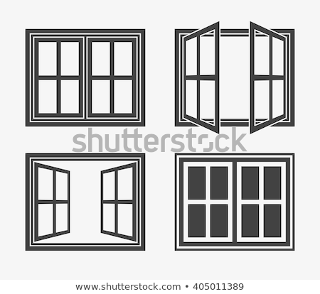 ouvrir · plastique · verre · fenêtre · isolé · blanche - photo stock © angelp