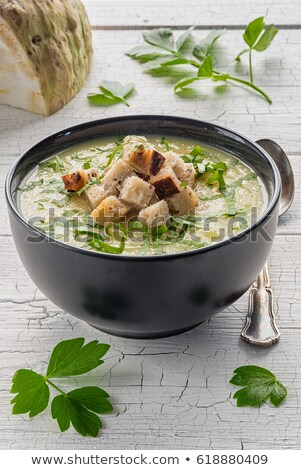 Céleri soupe coup alimentaire dîner Photo stock © grafvision