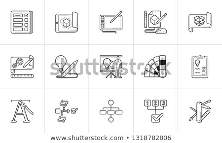 Color palette guide hand drawn outline doodle icon. Stock photo © RAStudio
