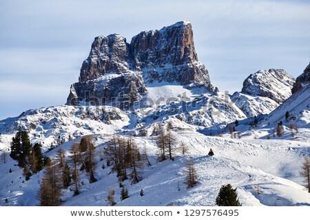 Hegyek fedett hó napfény Olaszország felhők Stock fotó © frimufilms