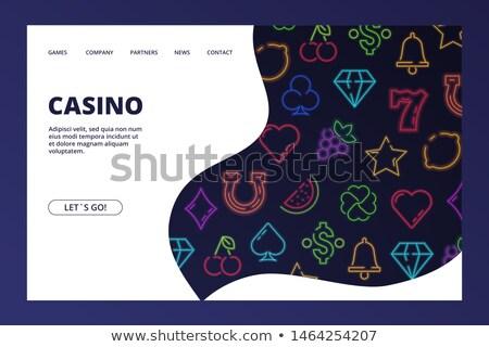 Casino Online Neon Landing Page Stock photo © Anna_leni
