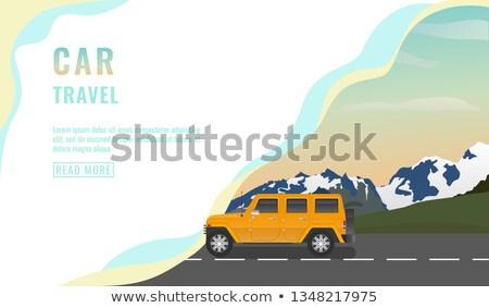 Landing pagina ontwerp banner auto reizen Stockfoto © MarySan