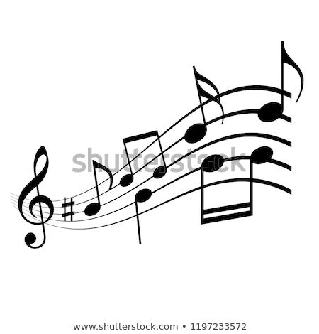 музыки отмечает иллюстрация музыку фон искусства Сток-фото © colematt