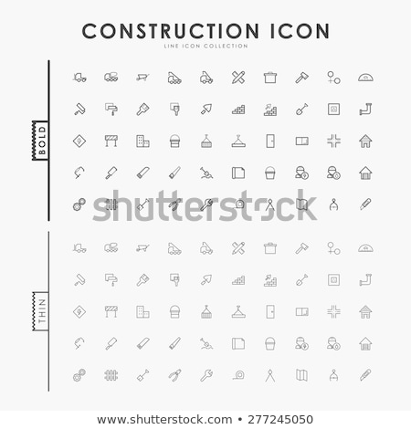 Engineering flat outline icons Stock photo © netkov1