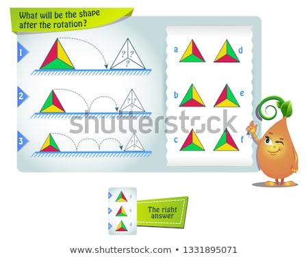 Forma rotáció háromszög oktatási játék gyerekek Stock fotó © Olena