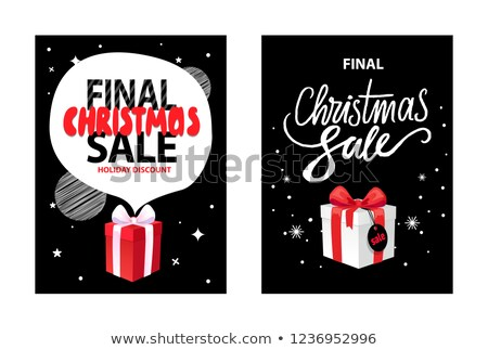 Vector Total Price Leaflet, Final Christmas Sale Stock photo © robuart