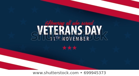 Soldaat Amerikaanse vlag dag ontwerp vaderlandslievend permanente Stockfoto © Krisdog