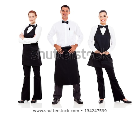 group of three cheerful smartly dressed friends stock photo © deandrobot