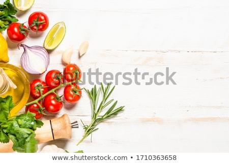 продовольствие свежие органический вегетарианский здоровое питание баннер Сток-фото © Kurhan