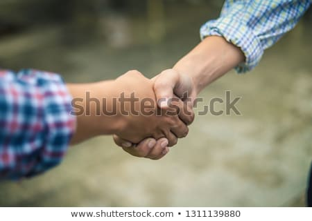 Dealing greeting and partnership meeting concept, businessmen ha Stock photo © snowing