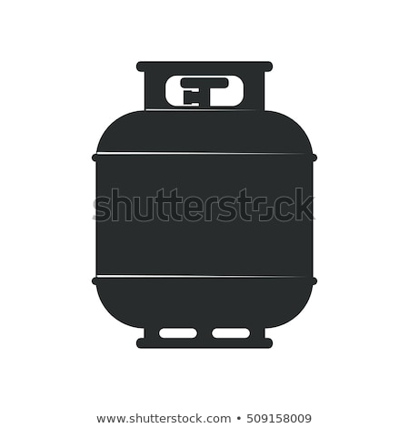 Camping gas container icon stencil ontwerp Stockfoto © angelp