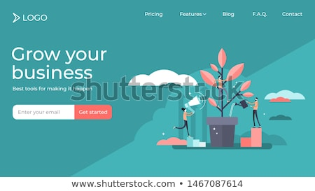 Stock photo: Sales growth landing page template.