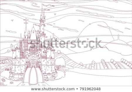 Vector Castleview Coloring Book Stock fotó © VetraKori