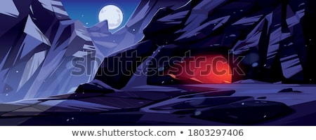 Night time cave scene Stock photo © bluering