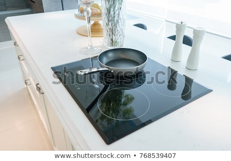 Modern Kitchen With Induction Stove Stock photo © AndreyPopov