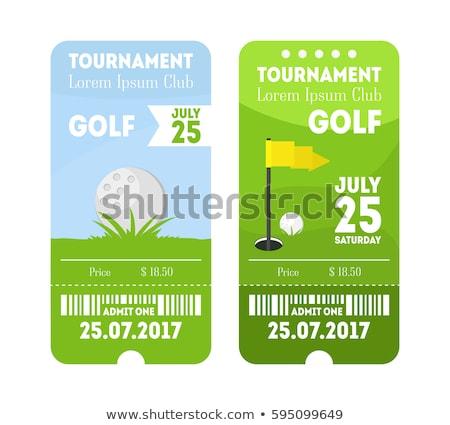 クーポン ゴルフ トーナメント ゲーム テンプレート ベクトル ストックフォト © pikepicture