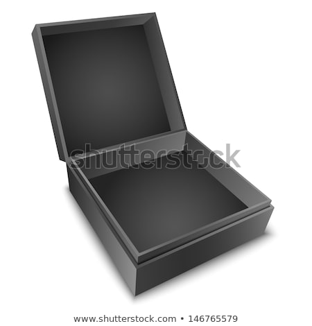 Closeup Beautiful White Square Jewelry Box Vector Stock photo © pikepicture