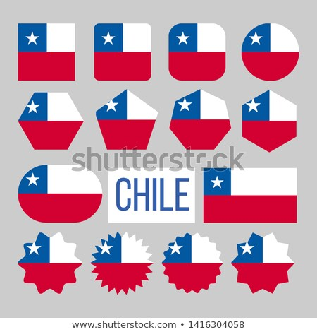 Chile Flag Collection Figure Icons Set Vector Stock photo © pikepicture