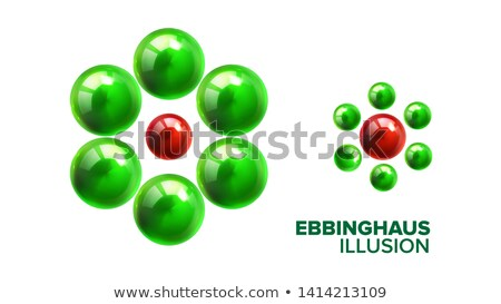 optical ebbinghaus illusion with balls vector stock photo © pikepicture