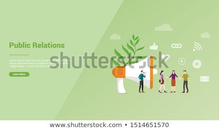 Public relations concept landing page. Stock photo © RAStudio