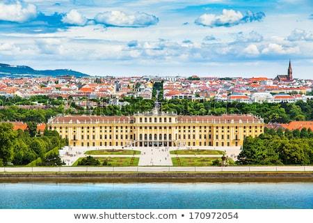 barokk · porta · kolostor · park · Ausztria · fű - stock fotó © borisb17