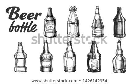 Gesloten bierfles ingesteld vector collectie Stockfoto © pikepicture