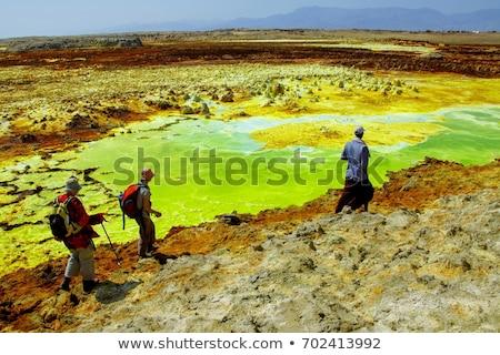 Äthiopien Depression schönen wenig Stelle Erde Stock foto © artush