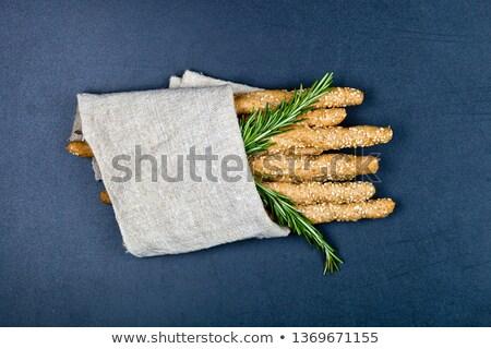 Italiano salado pan servilleta negro Foto stock © marylooo