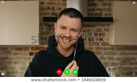 Człowiek działalności mężczyzna laptop programowanie Zdjęcia stock © robuart