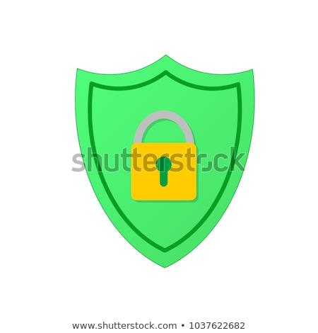 Green Lock Icon Stock photo © kbuntu